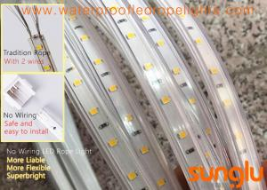China 220V No Wiring 2835 60D waterproof LED Rope Light ,Flex High Voltage LED Strip Light on sale