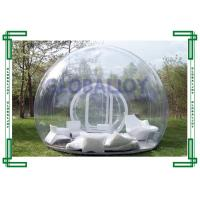 PVC / TPU Clear Transparent Inflatable Bubble Tent Room Customized