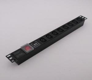 China Miidoe 19 inch IEC 13A 6 ,7,8 way pdu socket for cabinet Good contact wholesale