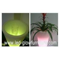 Round / Square / Cube and champagne LED Flower Pots lights , multi - colored led planter pots