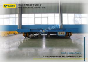 China Automated Battery Rail Transfer Trolley Carriage Large Load Capacity High Efficiency on sale