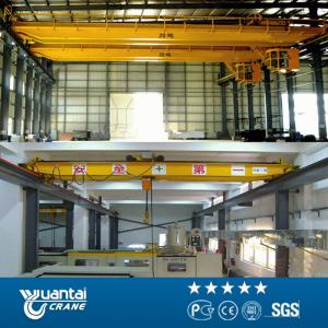 China YT 1-30T Best price LH double girder overhead crane with electric hoist on sale