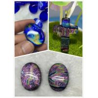 Dichroic Glass pendant with  for Women Jewelry European fashion original factory wholsale supplier