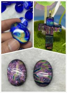 China Dichroic Glass pendant with  for Women Jewelry European fashion original factory wholsale supplier on sale
