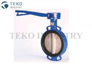 China Bi - Drection Rubber Seated Butterfly Valve Seal Semi Lug Style With Lock Handle on sale