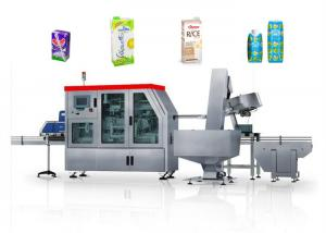Quality 35KW Stainless Carton Brick Beverage Packaging Machine Beverage Filling Line 125 for sale