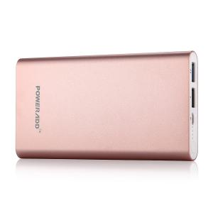 China Aluminum 10000mAh Portable Power Bank Dual USB Portable Charger for Cell Phone on sale