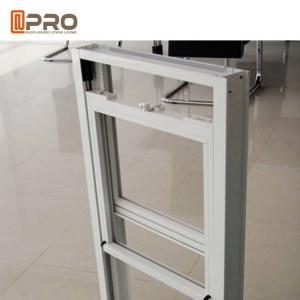 China Sound Insulation Sash Style Windows , Aluminium Vertical Sliding Sash Windows on sale