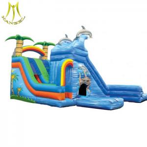 China Hansel  pvc inflatable trampoline for kids child inflatable bouncer with slide on sale
