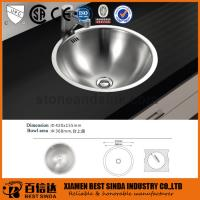 Commercial round above counter stainless steel sink