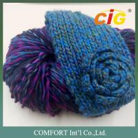 100 Acrylic / Cotton / Wool Colorful Yarn Knitted For Woman Scarf In Spring / Winter