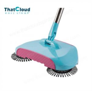 China Hand Round Spin Brush Floor Sweeper Environmental Friendly on sale