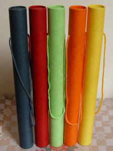 China Customized Colourful Telescopes Style Cardboard Paper Poster Tubes for Mailing on sale