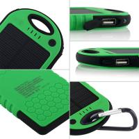 5000mAh Solar Mobile Charger, Waterproof(IP 5) Solar Charger, LED Flashlights Wireless