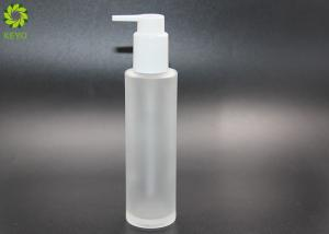 China Frosted Glass Hair Oil Body Essential Oil Pump Bottle 100ml 120ml on sale