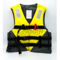 Jetski Yellow Color Water Sports Leisure Life Jacket Flotation Adult Life Vest