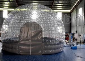 China Outdoor Rental Transparent Inflatable Cube Tent Bubble Tent With Double Layers on sale