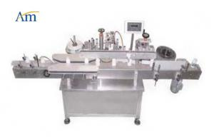 China Single Label Bottle Labeling Equipment , Automatic Bottle Labeler 25l / Min Air Supply on sale