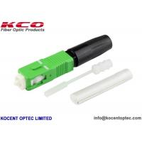 FTTH SOC Splice On Fast Connector SC/APC G652D G657A 0.9mm Green 0.2dB KCO-SOC-SCA