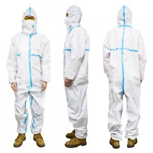 China Dust Proof Non Woven Disposable Protective Coveralls CE FDA Approved on sale