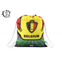 Belgium Digital Athletic Cinch Printed Drawstring Backpack Bag Polyester Medium For Boys School