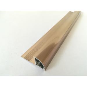 China Item:X3 Aluminium quarter round shape tile trim, finish: champagne anodized with electrophoretic coating, tile strip on sale