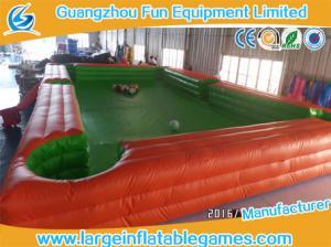 China billar portátil de la tabla del patio de la lona del PVC de los 7.8*4.8m del fútbol inflable de los billares on sale