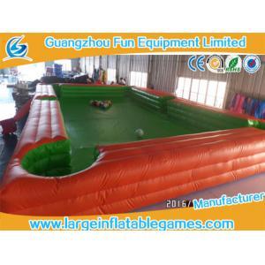 China billard portatif de Tableau de terrain de jeu de bâche de PVC de 7.8*4.8m du football gonflable de billards on sale