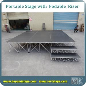 China Non-slip mobile stage small event stage dj stage hot sale with aluminum foldable risers on sale