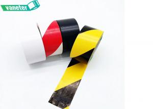 China Self Adhesive PVC Warning Tape / Hazard Warning Tape Red White Design on sale