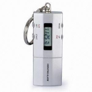 China Llavero del reloj de la alarma de la vibración en blanco, con el contador de tiempo de 24 horas de la cuenta descendiente on sale