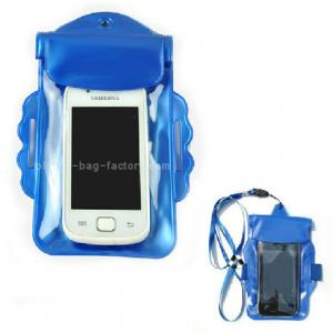 China Promotional Gift Waterproof Case Bag , Underwater Phone Pouch With Armband / Landyard on sale