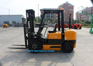 China Powershift 3.5T Diesel Forklift Truck 3 Stage 4.5m Mast With Forklift Angle Broom on sale