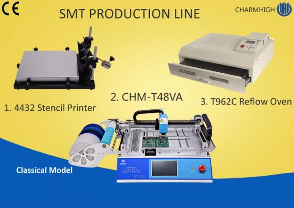 Desktop SMT Production Line Pick Place, Stencil Printing Machine