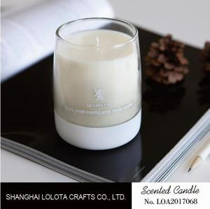 China Glass Jar Soy Wax Scented Candle Low Melting Point For Home Aromatherapy on sale