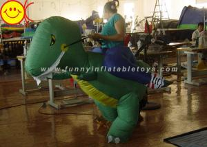 China Large Halloween Nylon Adult Inflatable Dinosaur Costume For Party Game on sale