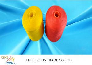 China Plastic Cone Polyester Sewing Thread , Bright Polyester Weaving Yarn AAA Grade on sale