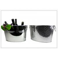 good quality and cheap stainless steel/metal ice bucket/wine cooler/beer tube with ears in colorful