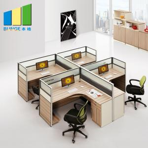 China 4 Seat Office Furniture Partitions With Powder Coated Finish 5 Years Warranty on sale