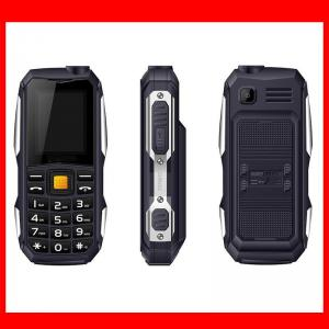 China Black Green Orange Color 1.77inch lcd screen display tough military mobile phone with 2400mah battery feature phone on sale