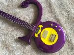 Custom guitar shop prince guitar Purple color boat anchor electric guitar with golden hardwares plastic pickguard