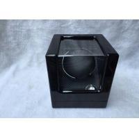 Black Wood Gents Watch Storage Box With Velvet Pillow Insert , Logo Custom
