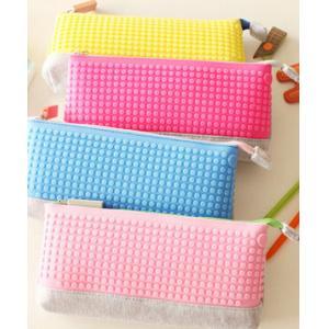 China pencil case DIY pencil bag cosmetic bag pantone color custom bag 2016 silicone canvas material pen case on sale
