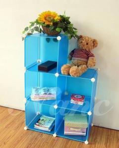 China 5 Grids DIY easy assemble PP plastic  storage shelf on sale