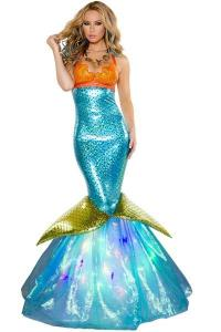 China Wholesale Sailor Sea Costume Aquarius Mermaid Dress for Halloween Christmas Party Carnival on sale
