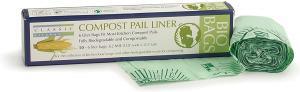 China 1C Print PBAT 1 Gallon Biodegradable Trash Bag For Compost Pails on sale