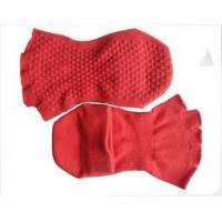 Comfortable Breathable Ladies Red Open Toe Non-slip Socks With Grip for Yoga and Pilates