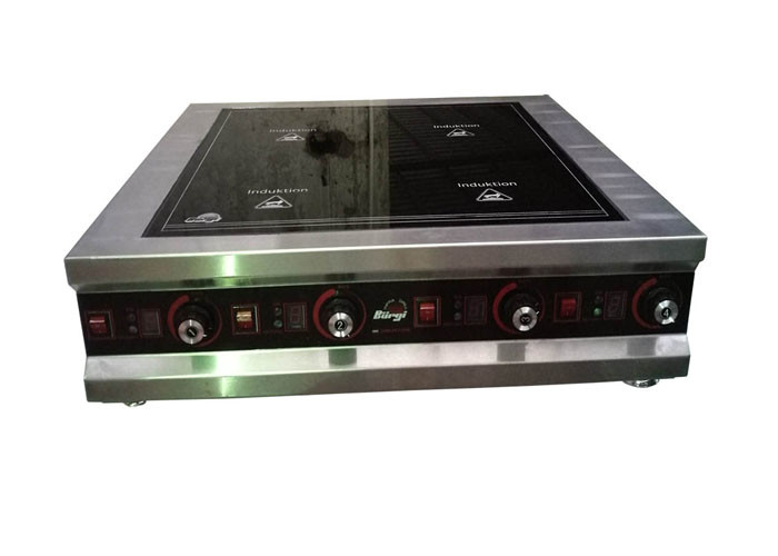 Western Style Tabletop 4 Hob Commercial Induction Cooker 3 5kw Each Zone Restaurant Equipment