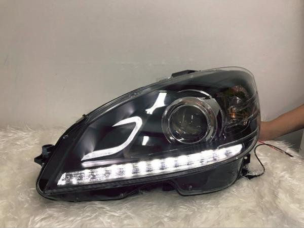 BENZ W204 C-class led headlight assembly led guide + HID