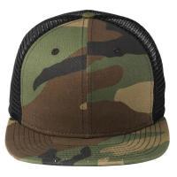 Green Camo / Black Mesh Snapback Hats , Full Closure Mens Mesh Ball Caps
